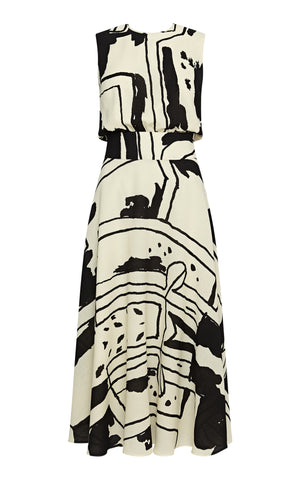 Julia Flared Sleeveless Midi Dress