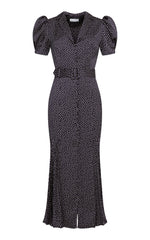 Laurina Button-up Midi Dress with Belt