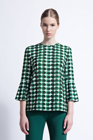 Saskia Blouse with Pleated Sleeves