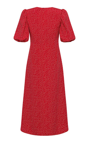 Rose Dotted Midi Dress