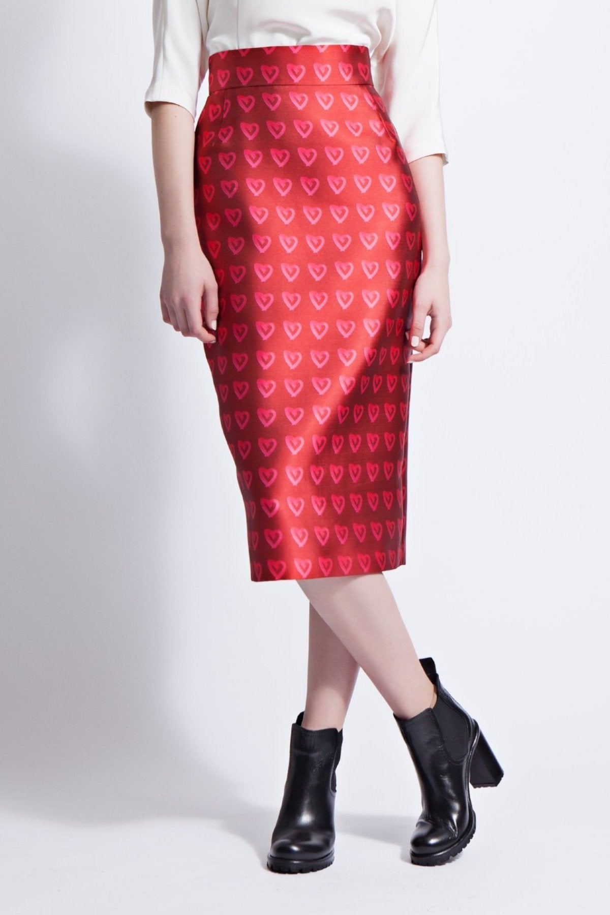 Karen Printed Pencil Skirt