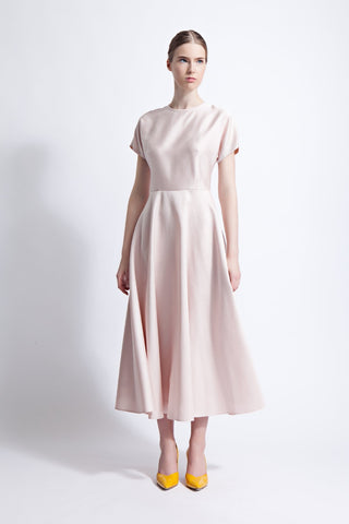 Cecilia Silk and Wool Blend Midi Dress
