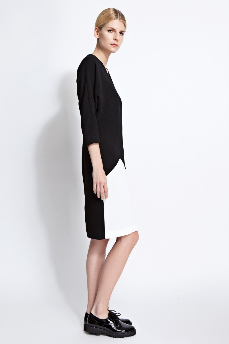 Amber Dolman Sleeve Color-Block Dress