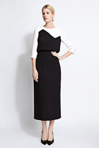Rita Color-Block Midi Dress