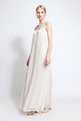Tilda Golden Chiffon Maxi Dress