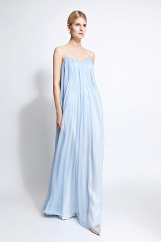 Lupita Strapless Silk Gown