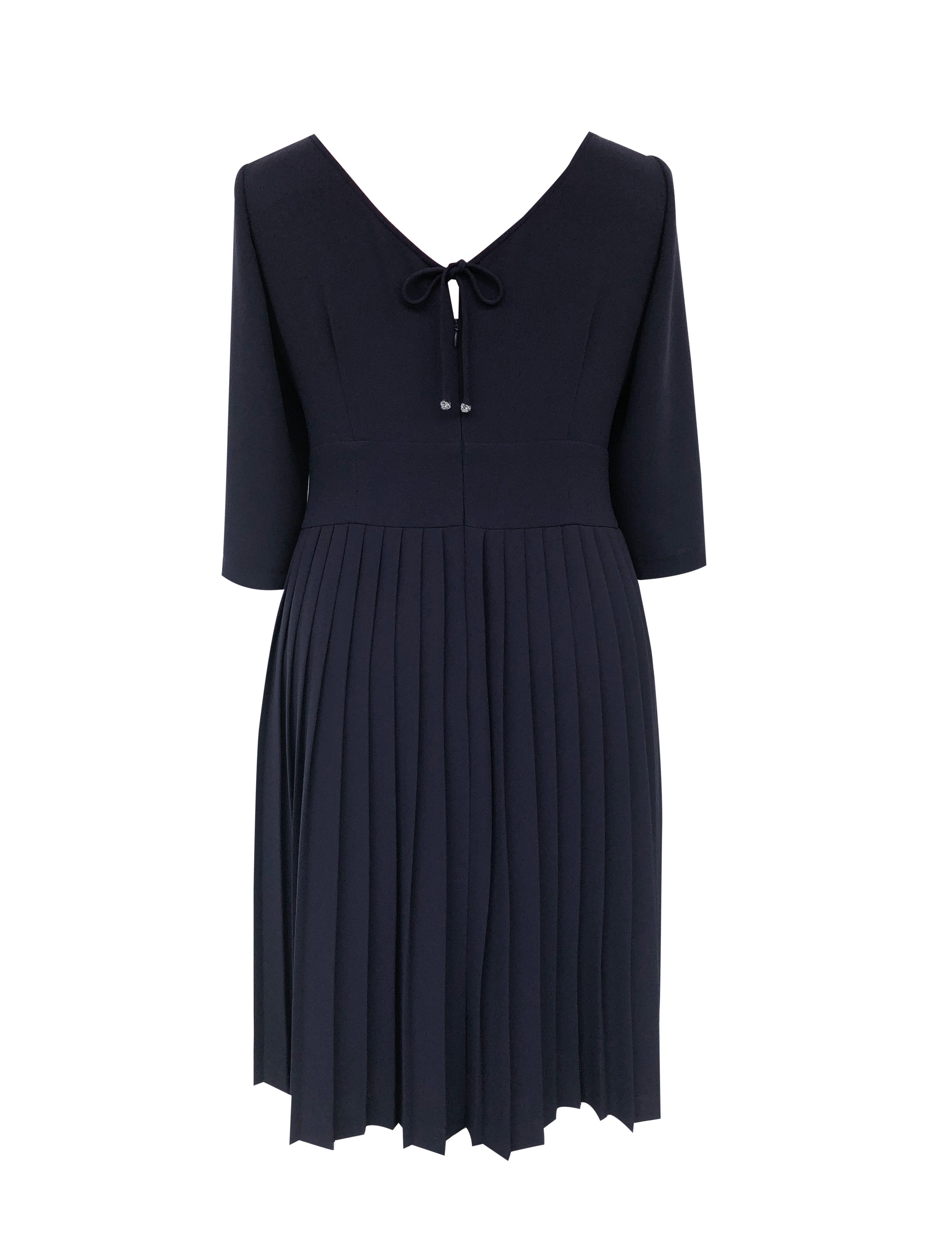 #LilliJahiloPreLoved Kate Pleated Navy Blue Cocktail Dress