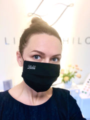 United Arab Emirates: Designer Face Mask with Custom Embroidery, Non-medical (Incl Delivery to UAE)