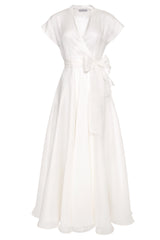 Grace Organza Wrap Dress