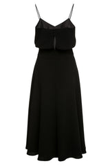 Luna Black Crepe Dress