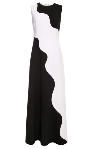Polar Sleeveless Wool Crepe Gown