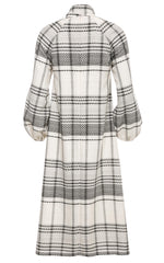 Mary A-line Plaid Dress with Bow Tie