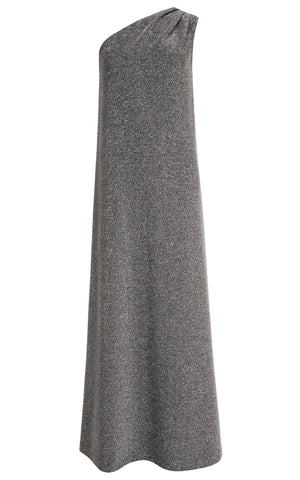 Skye Shimmer Jersey One-Shoulder Maxi Dress