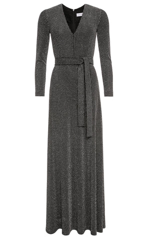 Meadow Striped Shimmer Jersey Maxi Dress
