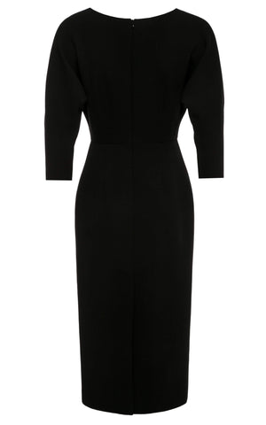 Ingrid Midi Dress with Dolman Sleeves