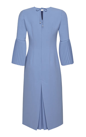Kaia Midi Dress with Long Pleated Sleeves
