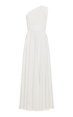 Melody One-Shoulder Crepe Gown