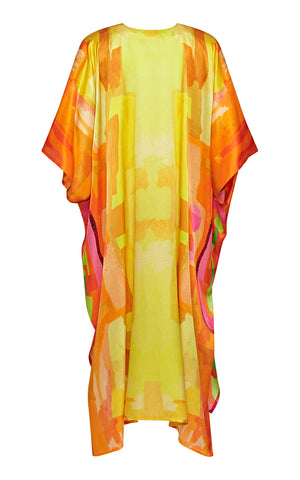Ellinor Oversize Silk Satin Kaftan