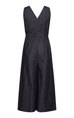 Zuleika Denim Jumpsuit with Side Pockets