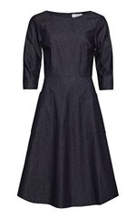 Zandra Denim Day Dress with Patch Pockets