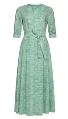 Ellen Cotton Shirt Dress with Knife Pleats and Pockets