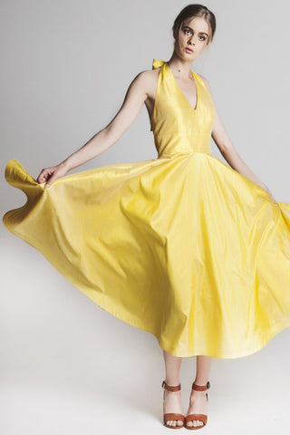 The Cannes Dress Sunflower Yellow