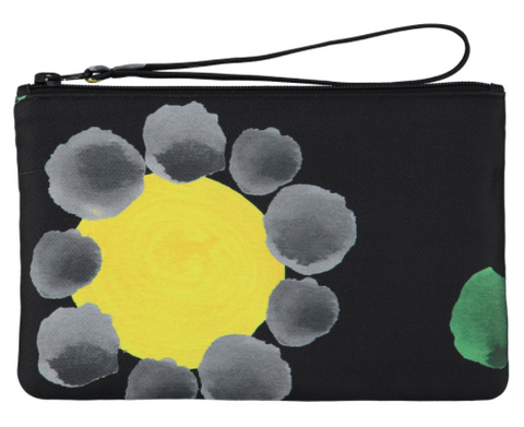 Black Mixed Print Pouch