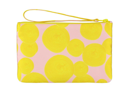 Yellow Dotted Pouch