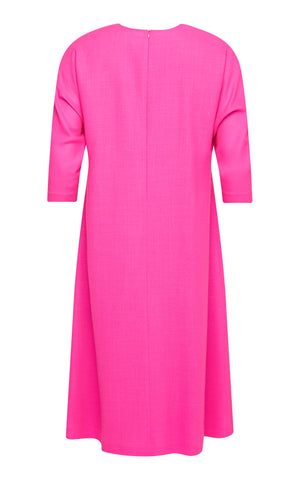 Ella Wool Crepe Dolman Sleeve Dress
