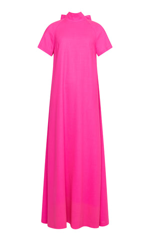 Nora A-line Maxi Dress with Bow Tie