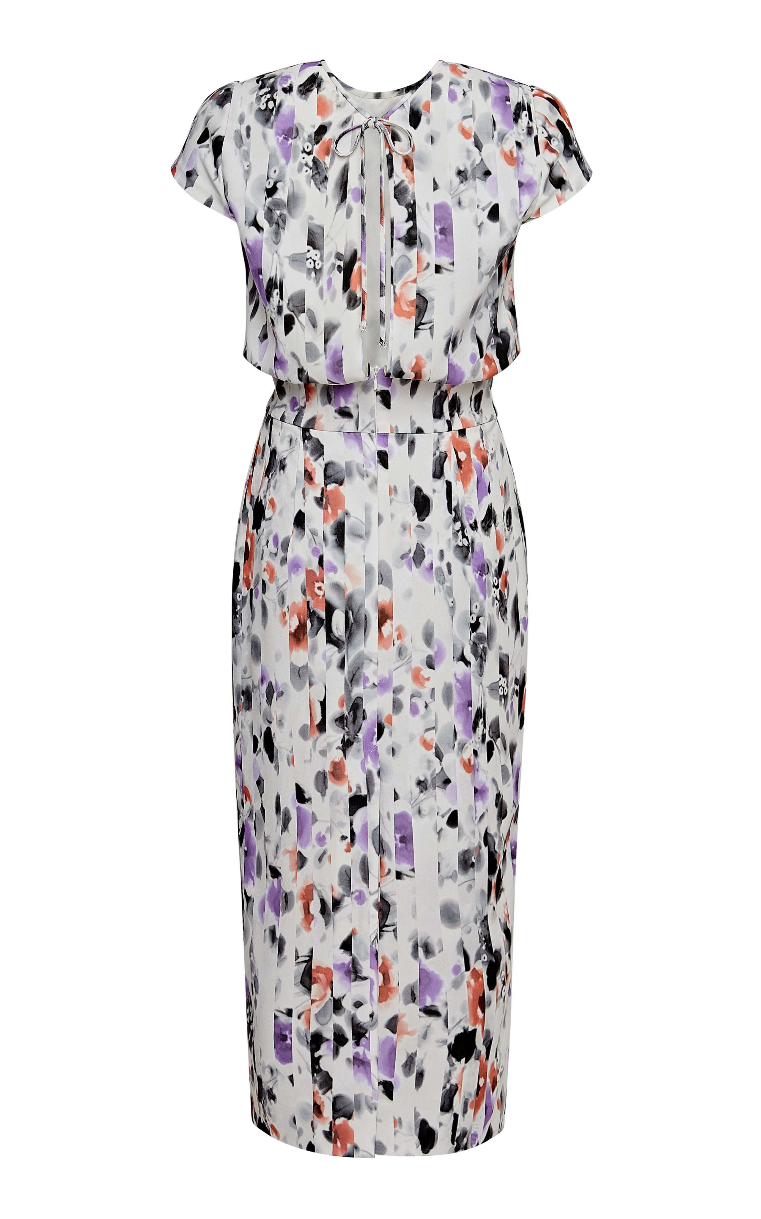 Mila Column Midi Dress with Cap Sleeves