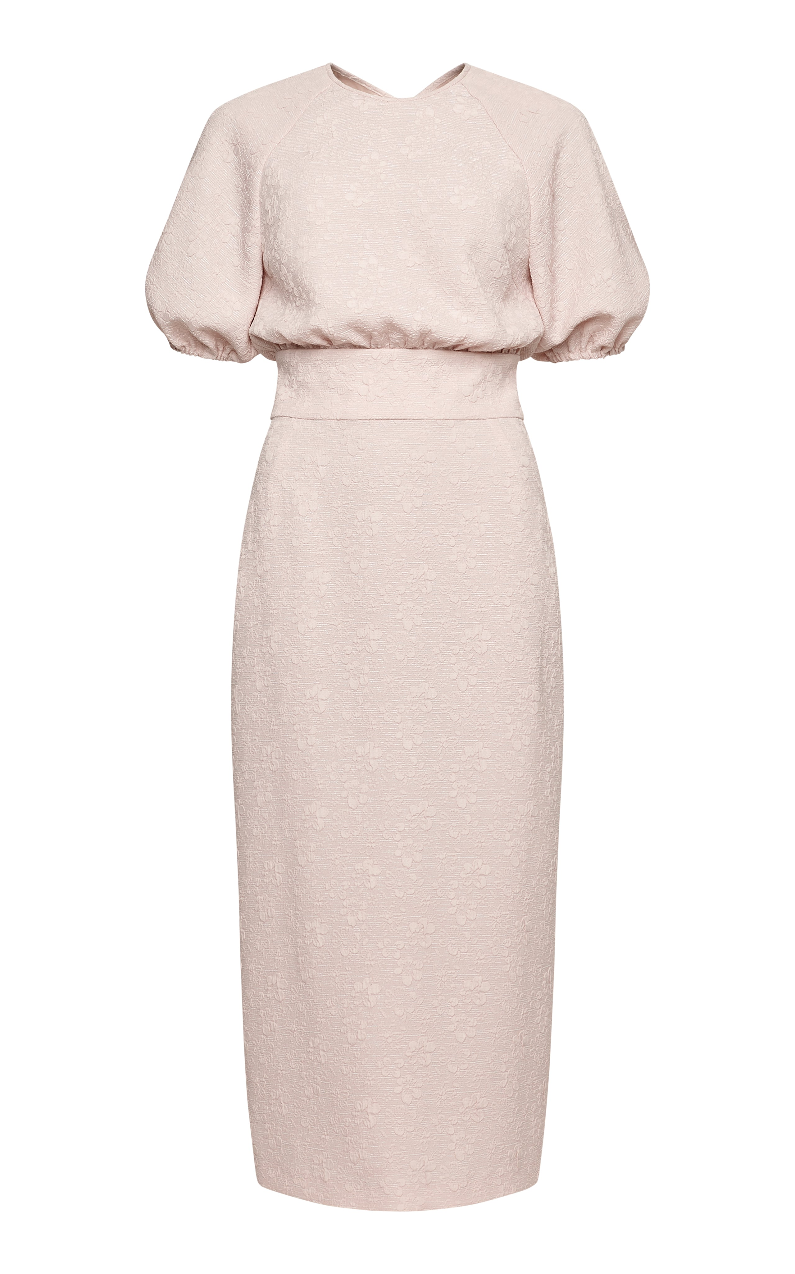 Allegra Midi Dress with Puff Sleeves