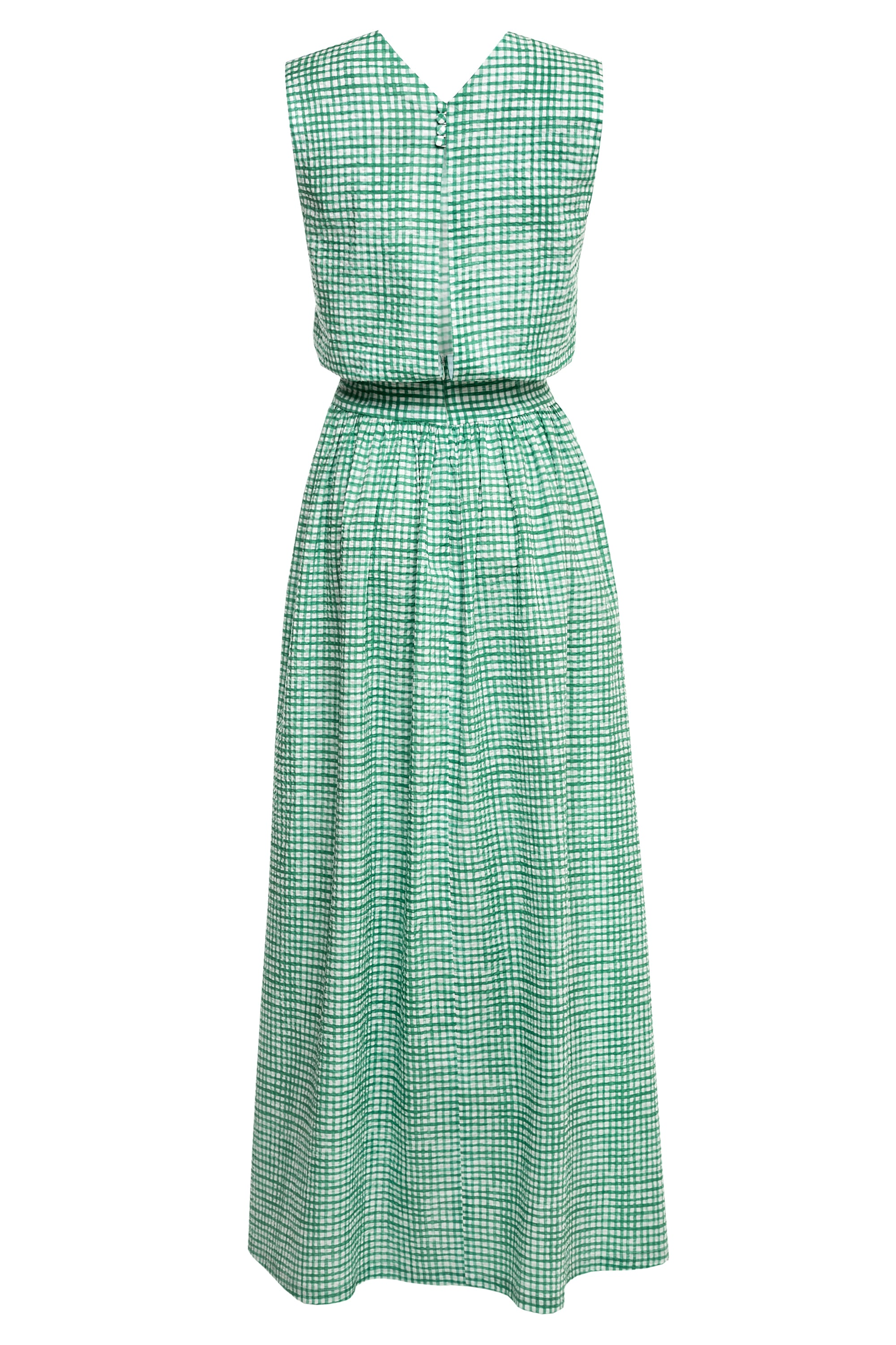 Agnes Cotton Dress with Button Fastening