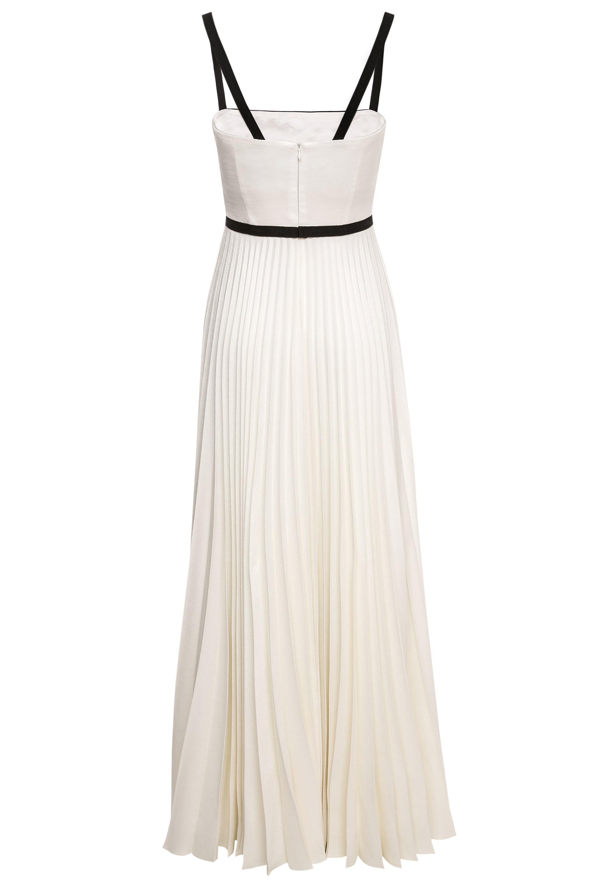Gudrun Pleated Gown with Ribbon Embellishment