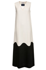 #LilliJahiloPreLoved Ida Two-Tone Wool Maxi Dress