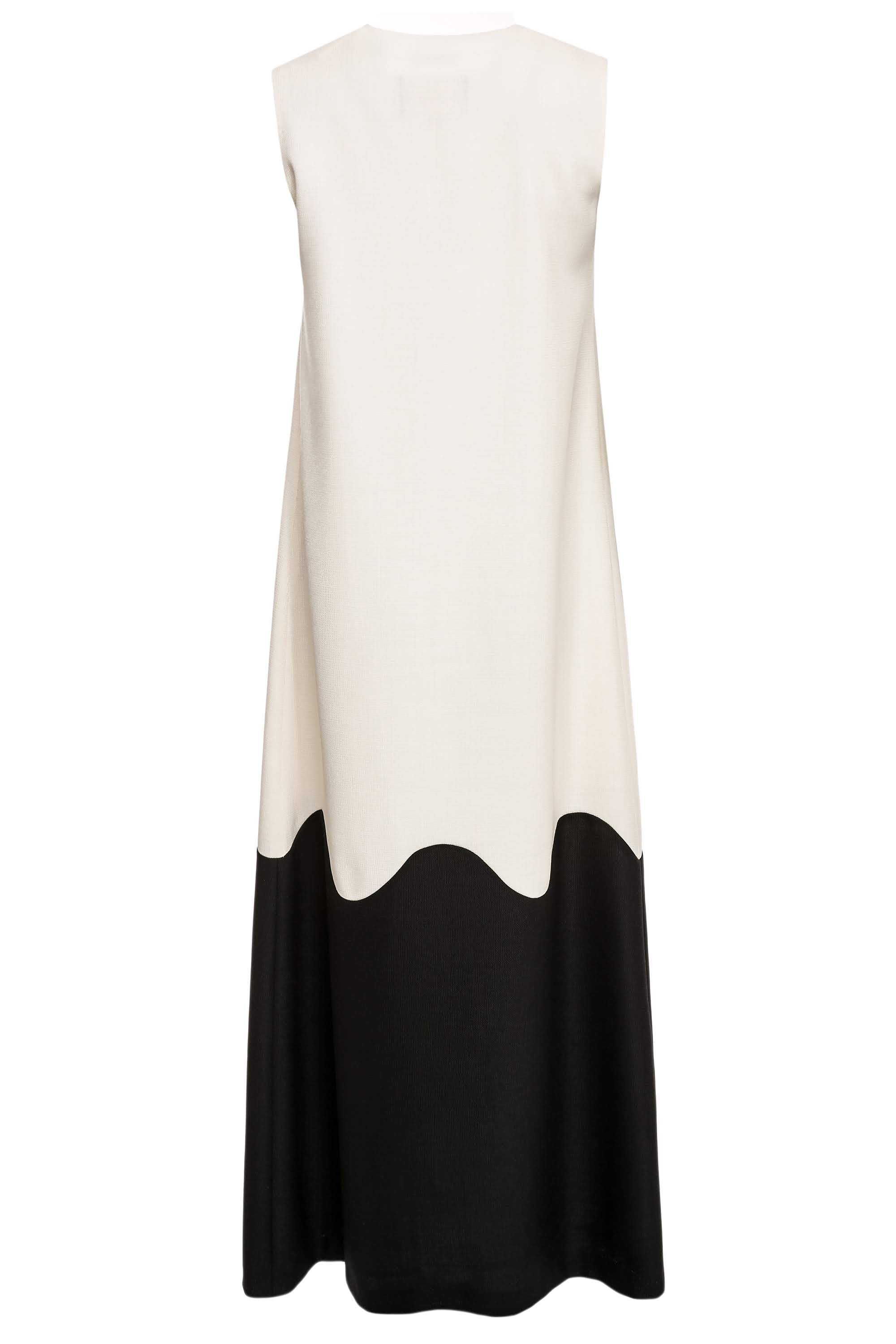Ida Two-Tone Wool Maxi Dress