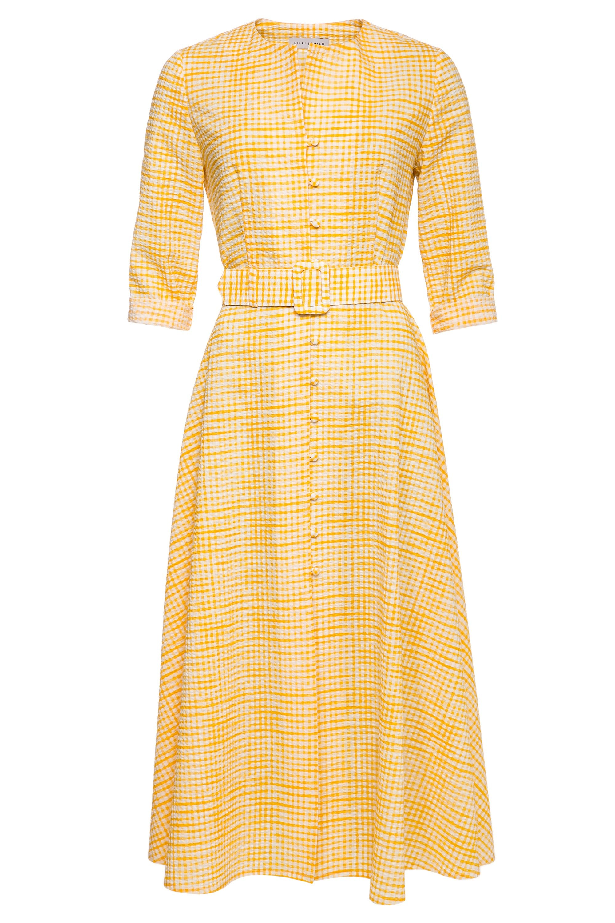 Elsa Cotton Dress with Belt