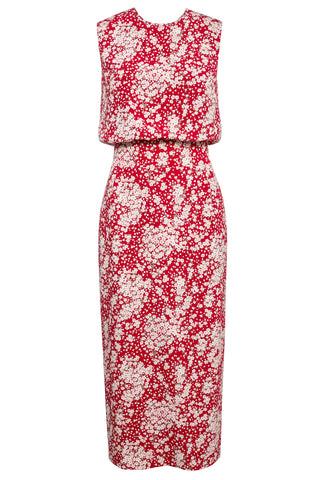 Harper Printed Column Midi Dress