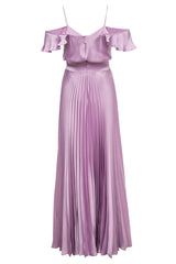 Emily Off-The-Shoulder Pleated Gown