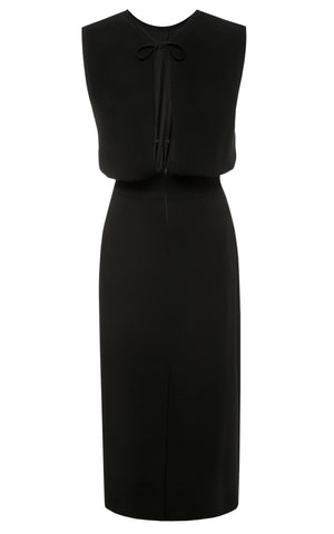 Harper Column Midi Dress Black