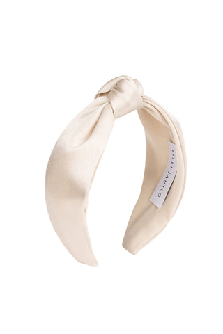 Satin Headband Vanilla White