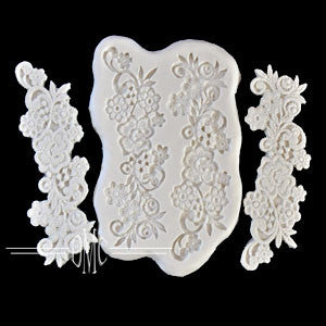 Flowers with Scrolls Lace Mold