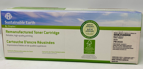 Staples Sustainable Earth Remanufactured Toner Cartridge SEB2500MR