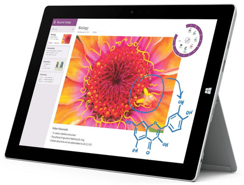 "Microsoft Surface 3 128GB WiFi Tablet 10.8"" Intel Atom - Silver (Renewed)"