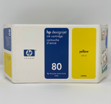 HP 80 350-ml Yellow DesignJet Ink Cartridge, C4848A