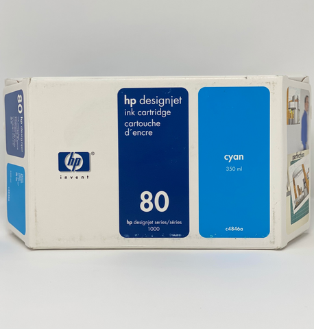 HP 80 350-ml Cyan DesignJet Ink Cartridge, C4846A