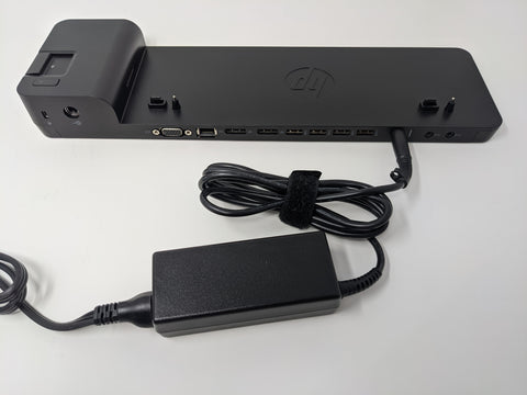HP UltraSlim Docking Station with 65W AC Adapter