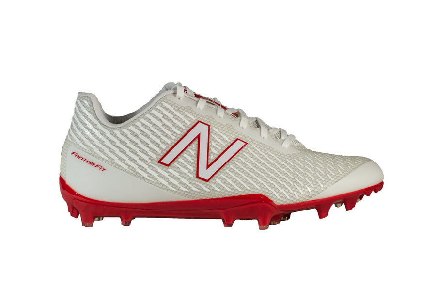 Men's New Balance Burn X Low -  White/Red