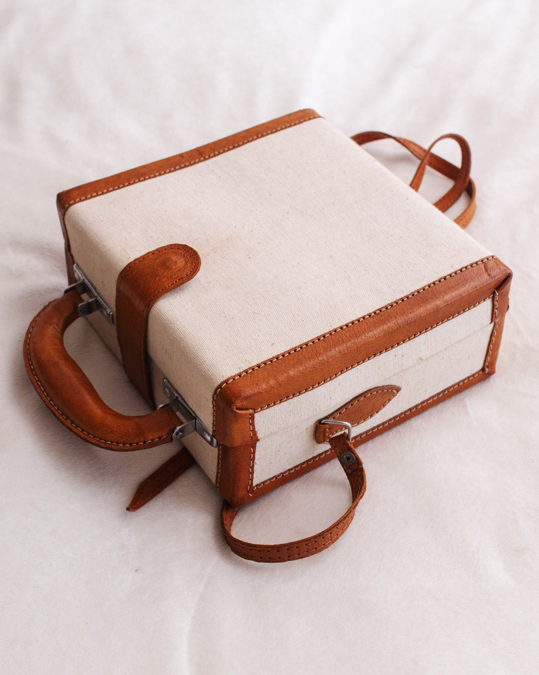 Vintage Canvas Box Handbag