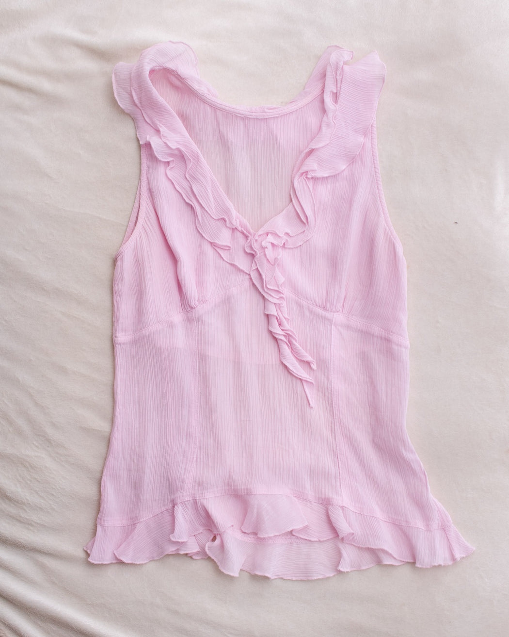 Ruffled Sleeveless Top